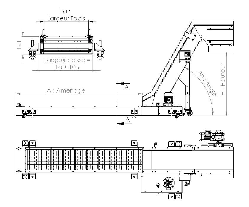 Plan convoyeur a copeaux T38