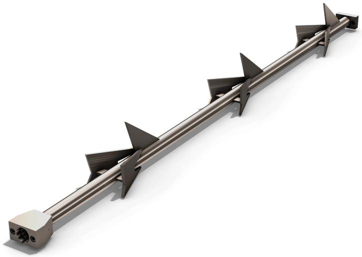 Barre harpon convoyeur a copeaux
