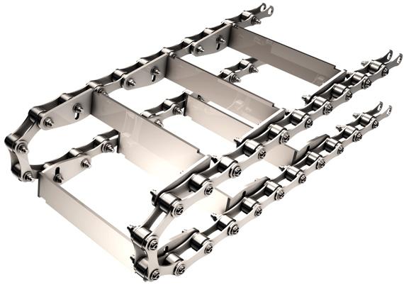 Chaine raclettes convoyeur a copeaux