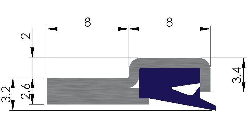 Plan racleur de glissières AL11