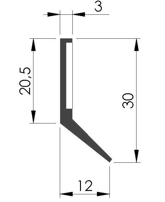 Plan racleur de glissieres ALFBA