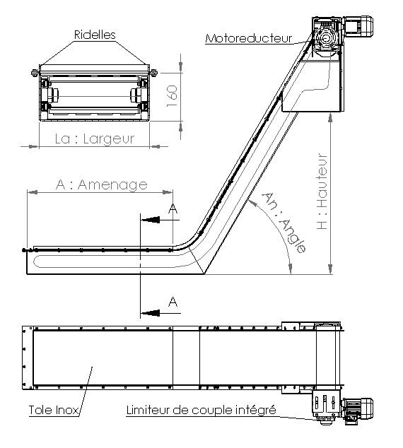 Plan convoyeur magnetique AL-Industrie