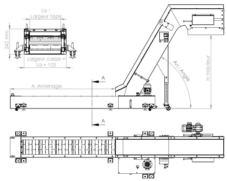 Plan convoyeur a copeaux T63