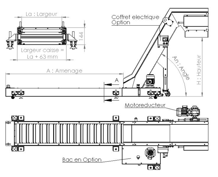 Plan convoyeur raclettes R38 AL-Industrie
