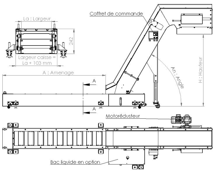 Plan convoyeur a copeaux R63 AL-Industrie