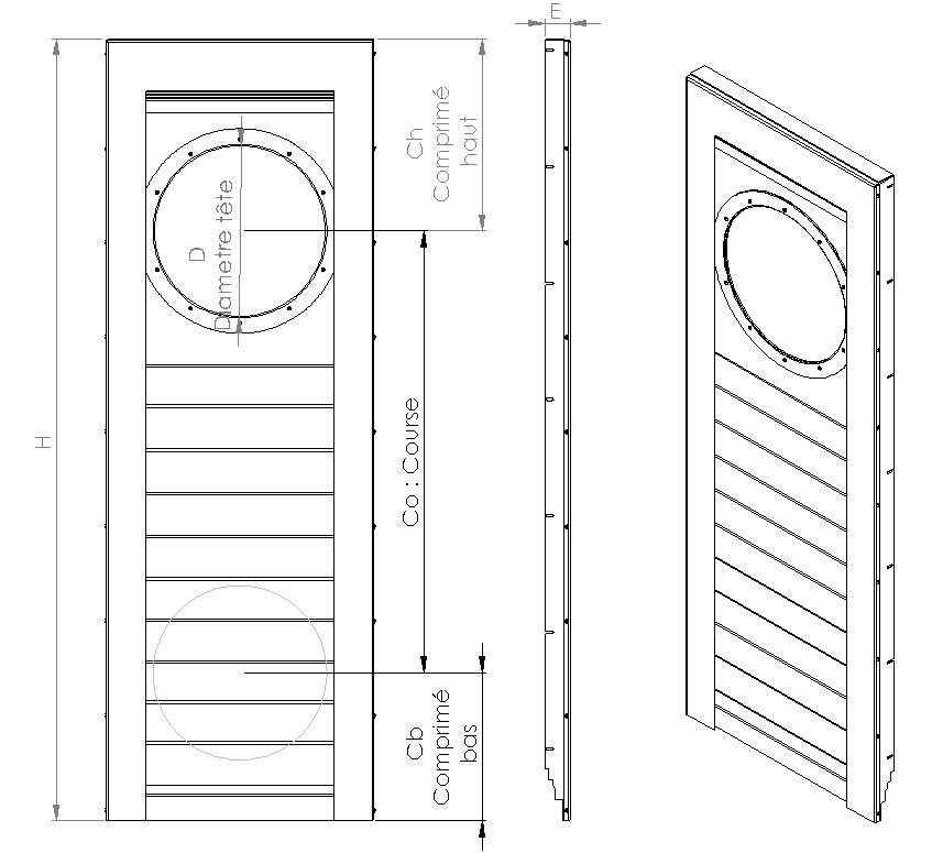 Plan protecteur telescopique vertical
