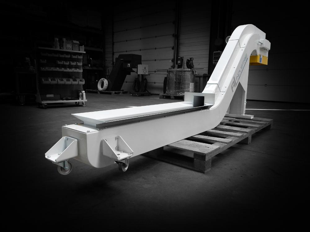 Convoyeur tapis chutes aluminium