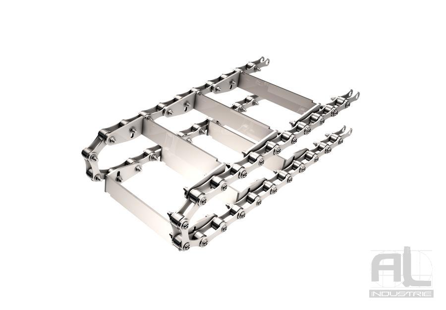 Tapis à raclettes R63 6 - Convoyeurs à raclettes