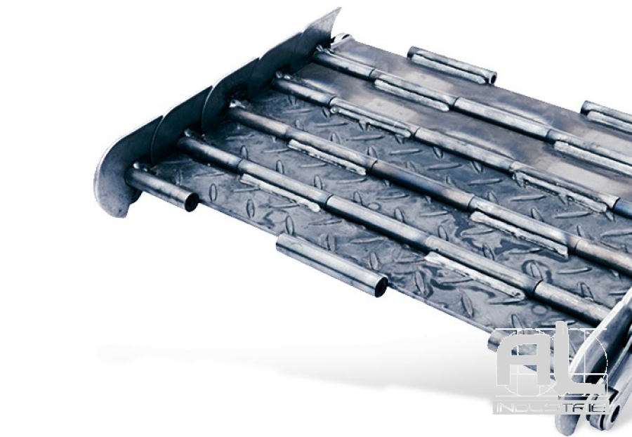 tapis-de-convoyeur-T63R - Tapis métallique convoyeur