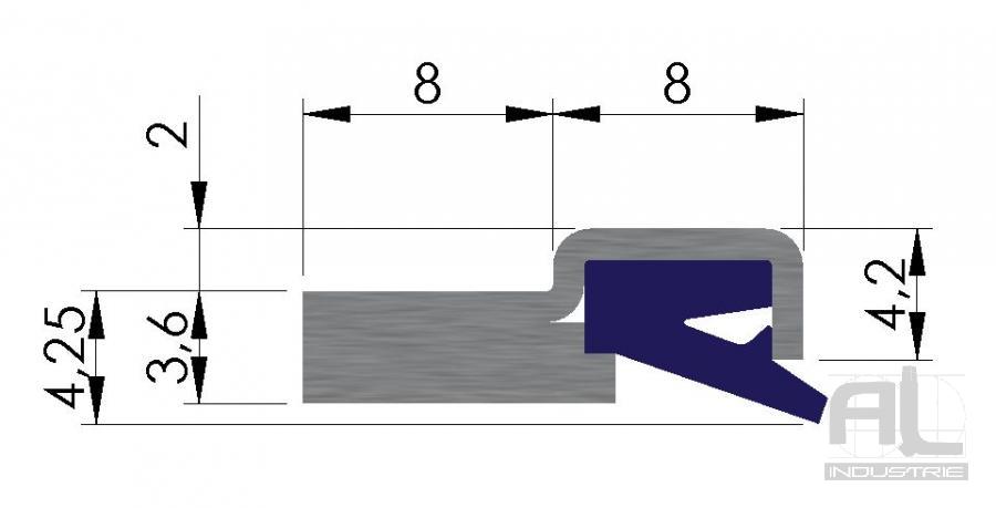 Plan joint AL10 - Joint racleur AL10 - Joints racleurs