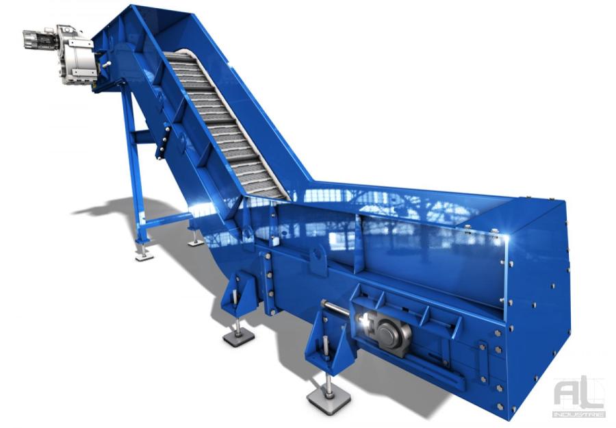 Convoyeur tapis metallique - Convoyeur tapis T100 - Convoyeurs à tapis