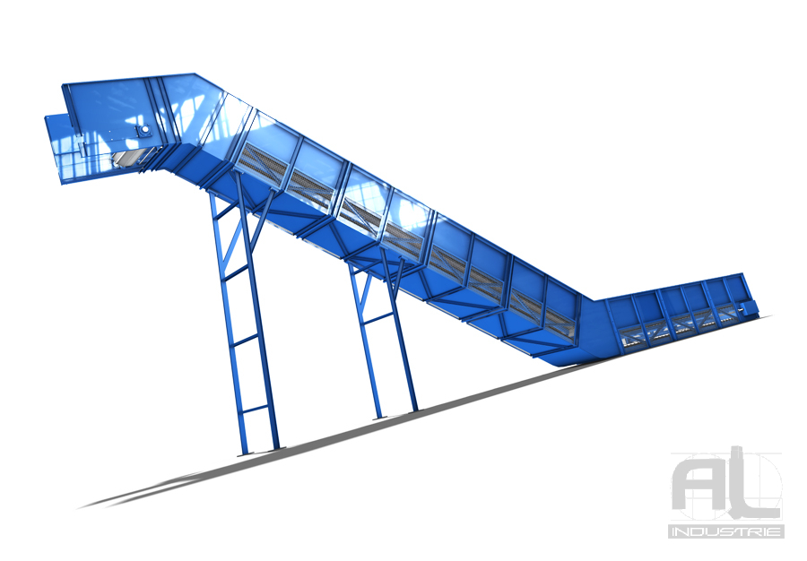 Bande transporteuse metallique - Convoyeur tapis T200 - Convoyeurs à tapis