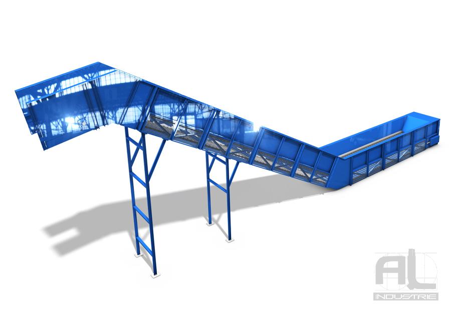 Convoyeurs centre de recyclage - Convoyeur tapis T200 - Convoyeurs à tapis