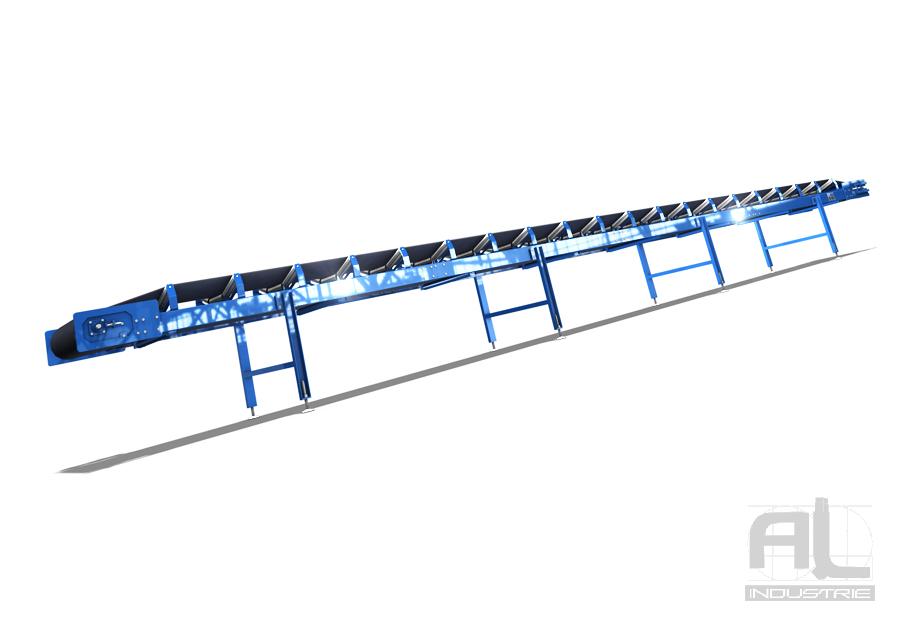 Convoyeur a bande caoutchouc - Convoyeur a bande en auge - Convoyeurs à bande
