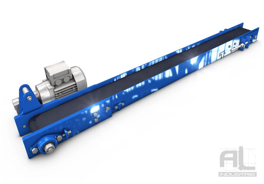 Convoyeur a bande caoutchouc - Convoyeur a bande série légère - Convoyeurs à bande