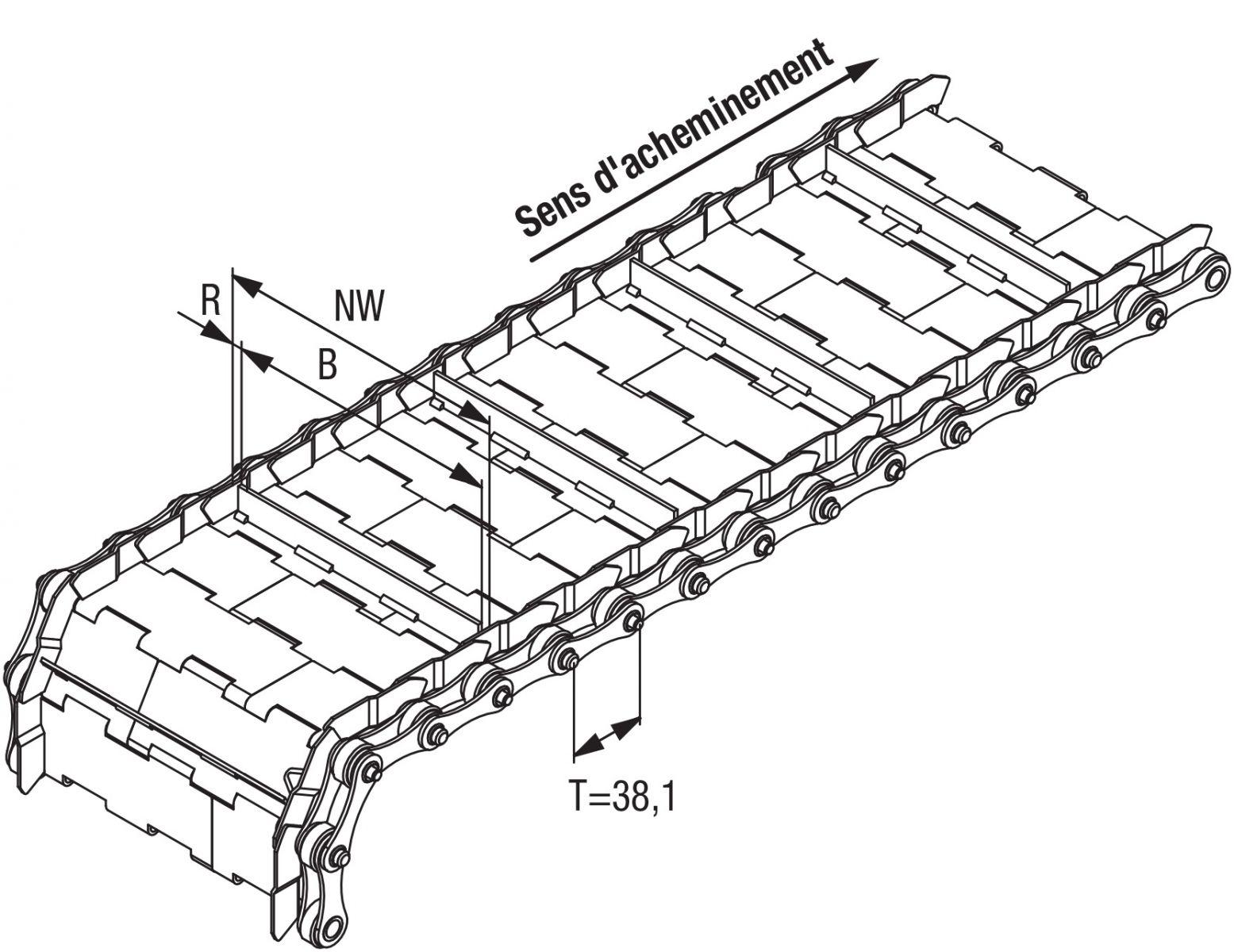 tapis metallique convoyeur