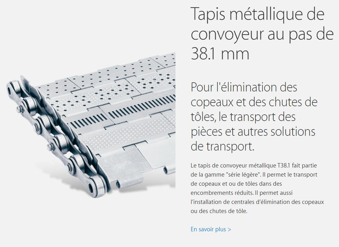 Tapis métallique T38