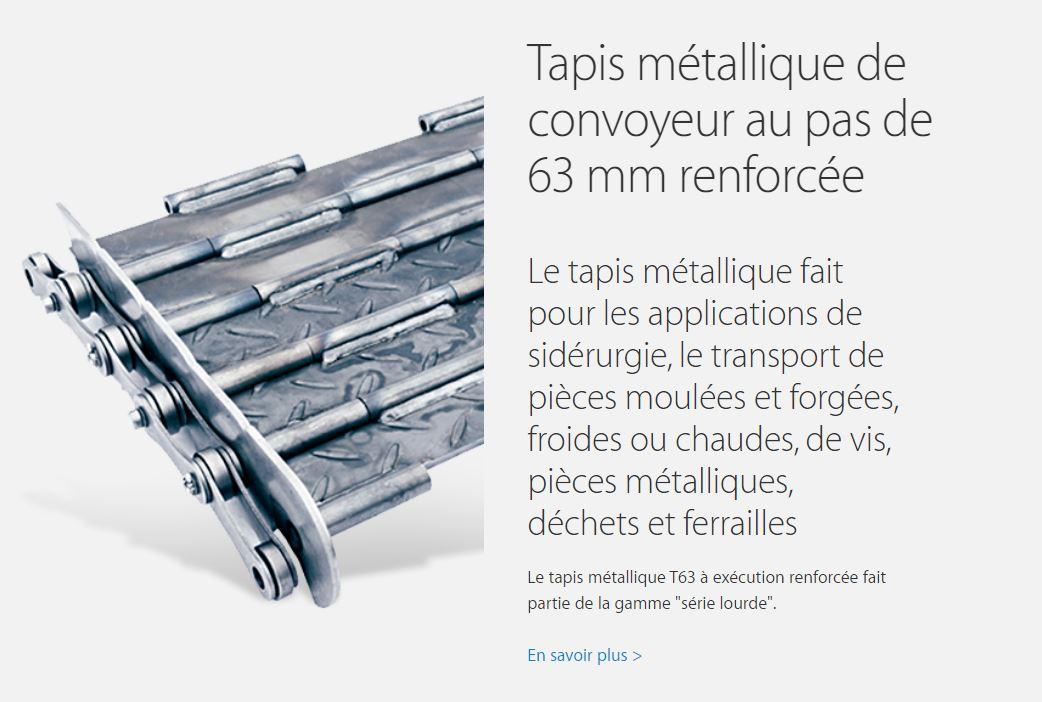 Tapis metallique renforcé