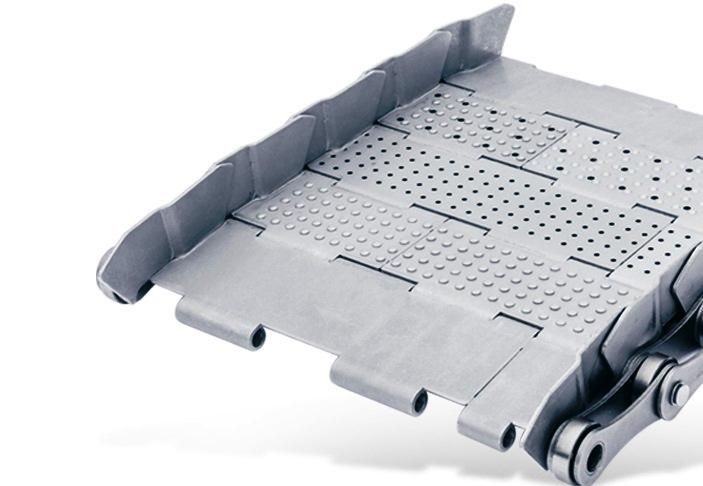 Tapis métallique convoyeur pas 63 mm