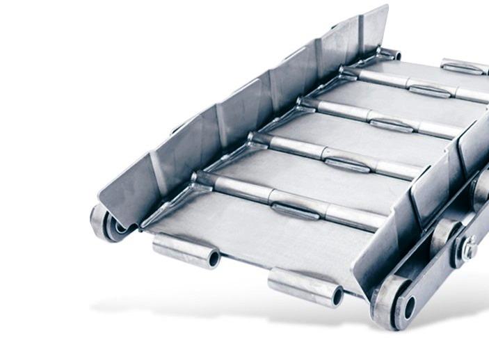 Tapis métallique convoyeur pas 200 mm