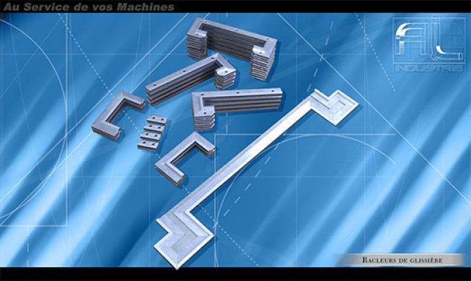 Al Industrie - Nos réalisations : Racleurs de glissières
