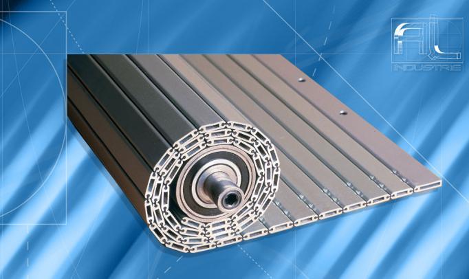 Enrouleur dérouleur tapis aluminium
