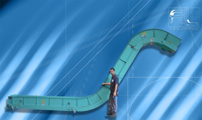 Convoyeur magnetique copeaux