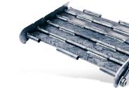 Tapis métallique convoyeur pas 63 mm renforcé