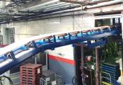 Convoyeur bande en auge - solution Recyclage