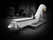 Convoyeur tapis chutes aluminium - solution Sidérurgie
