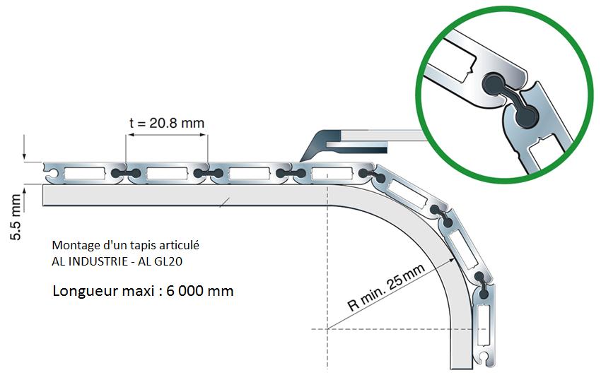 Tapis articule aluminium GL20