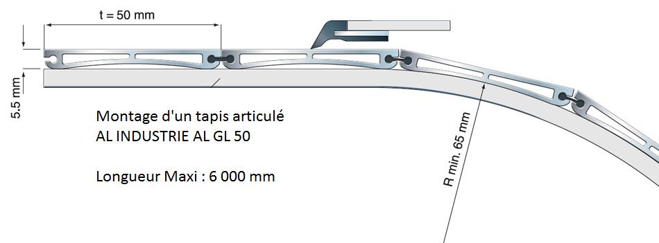 Tapis articule aluminium GL50