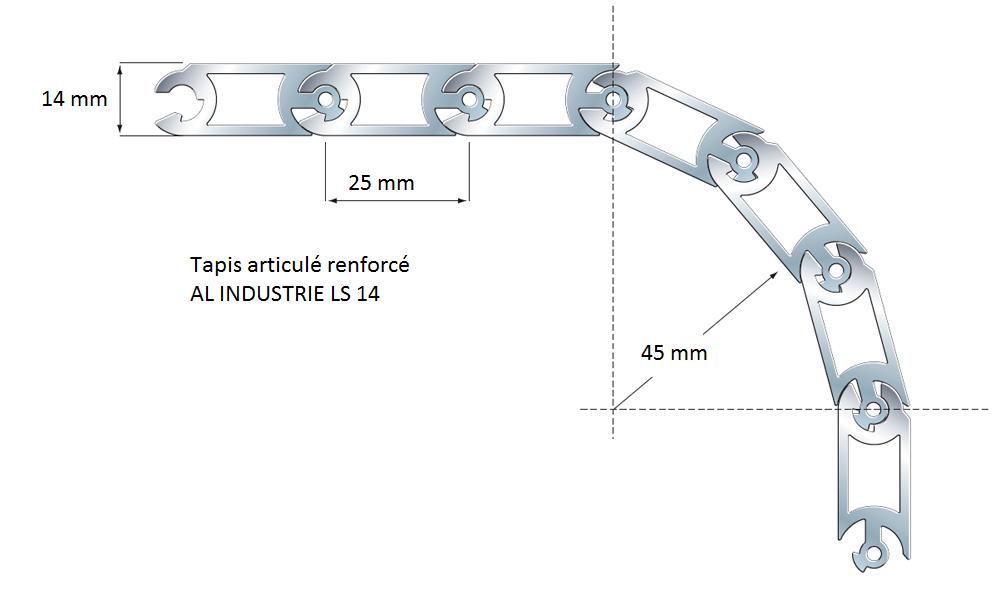 Tablier arme aluminium LS14