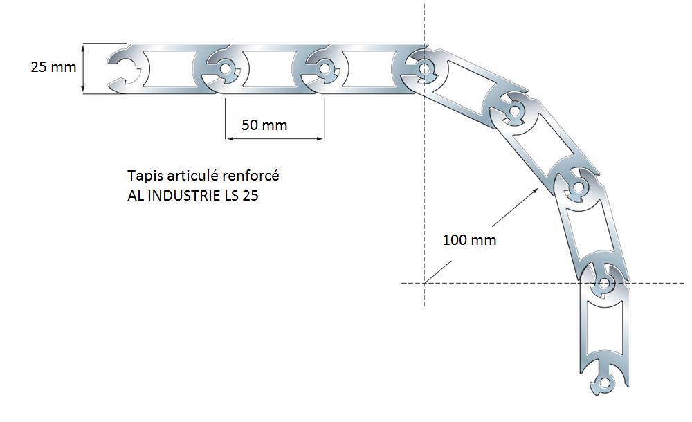 Tablier arme aluminium LS25