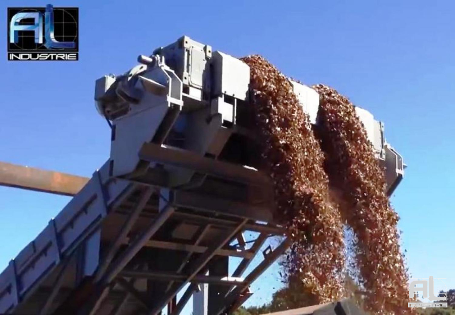 Convoyeur à bois - Convoyeur plaquettes de bois - Recyclage