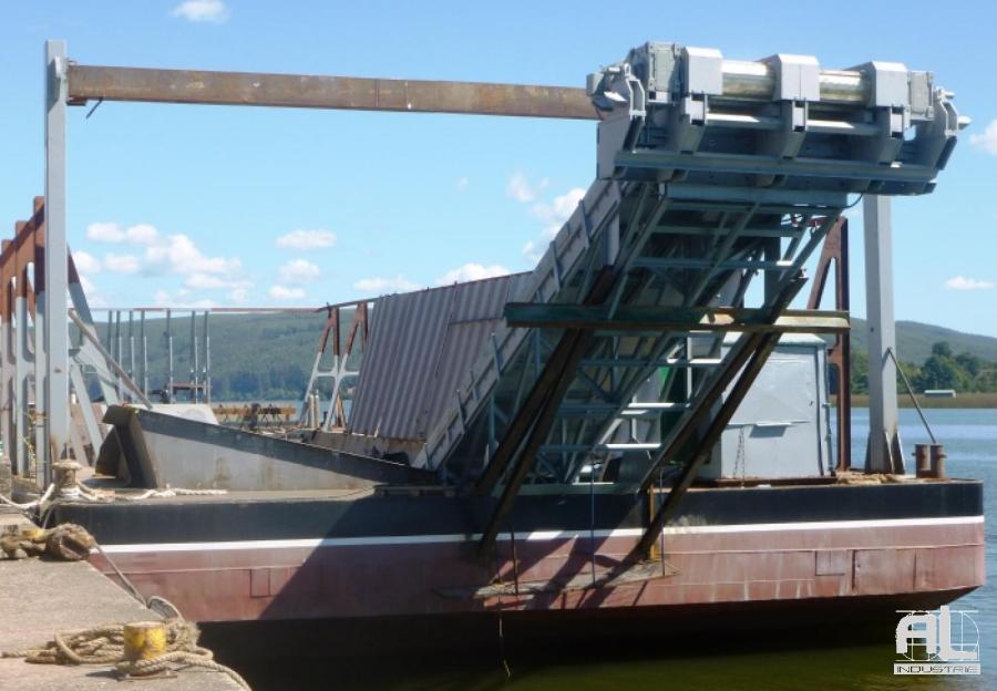 Convoyeur à tapis pour barge - Convoyeur plaquettes de bois - Recyclage