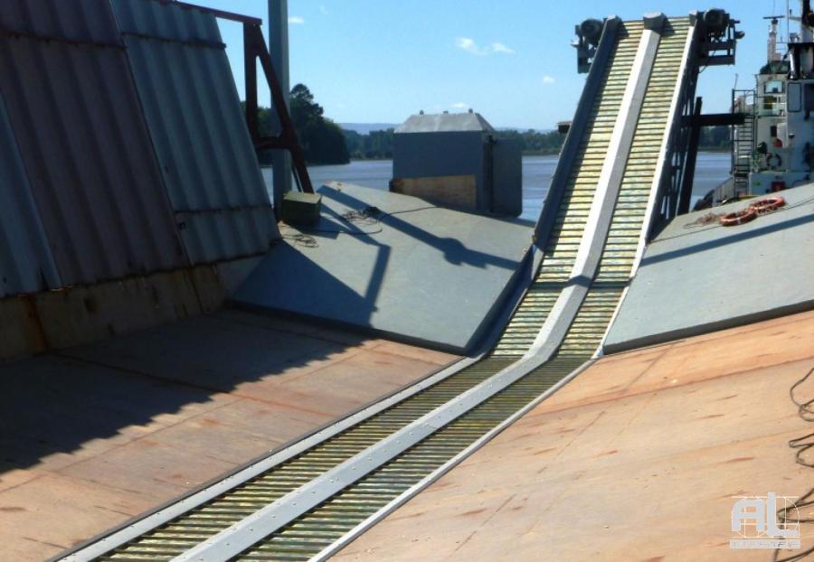 Convoyeur à tapis AL Industrie - Convoyeur plaquettes de bois - Recyclage