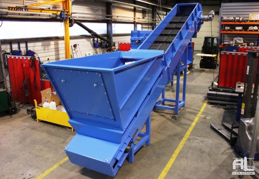 Convoyeur série lourde AL industrie - Convoyeur à tapis laminoir - Sidérurgie