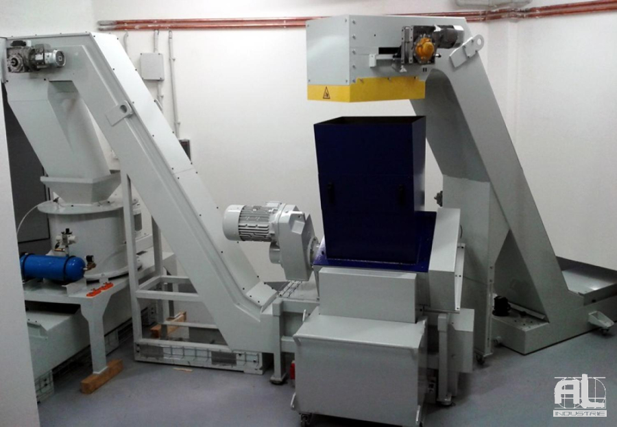 Convoyeur broyeur AL Industrie - Broyage, Essorage, Compactage - Mécanique