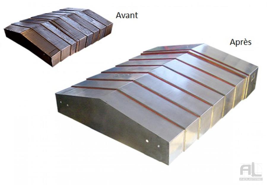 Retrofit carter de glissières - Remise à neuf protecteurs telescopiques - Protecteurs Télescopiques