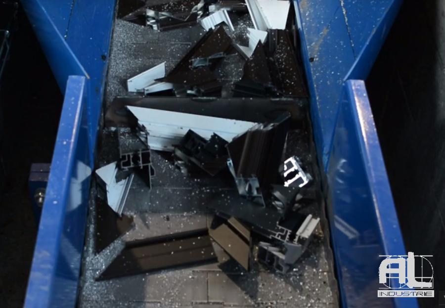 Convoyeur chute aluminium - Convoyeur chutes aluminium et pvc - Recyclage