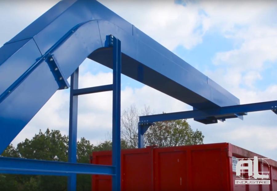 Convoyeur dechets aluminium - Convoyeur chutes aluminium et pvc - Recyclage