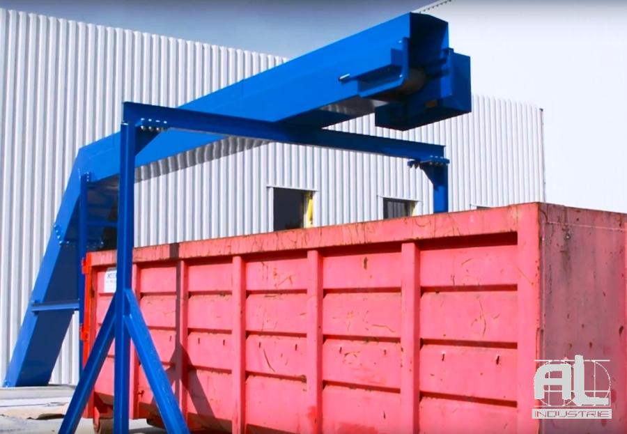 Convoyeur dechets industriels - Convoyeur chutes aluminium et pvc - Recyclage