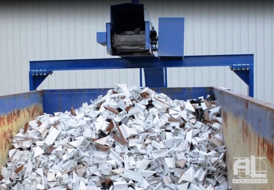 Convoyeur chutes plastique - Convoyeur chutes aluminium et pvc - Recyclage