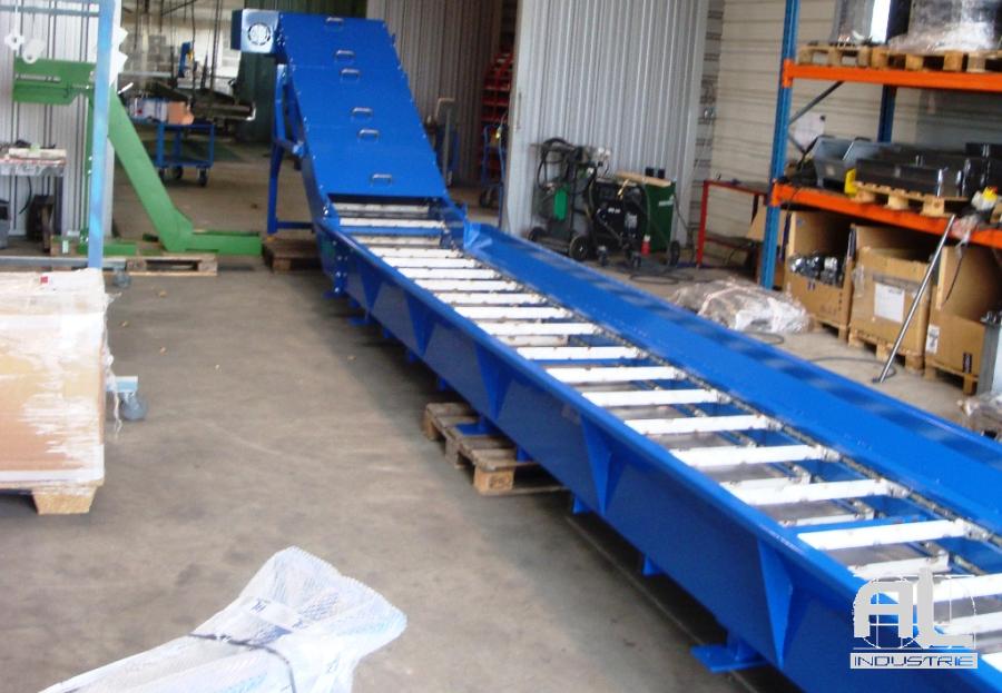 Convoyeur spécial cendres - Convoyeur de cendres four biomasse - Filière bois