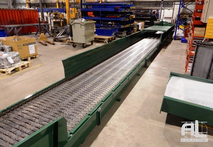 Convoyeur à tapis laser - Convoyeur découpe laser - Tôlerie