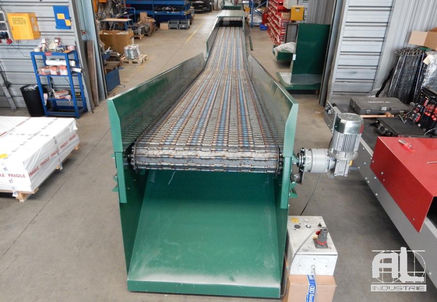 Convoyeur à tapis metallique - Convoyeur découpe laser - Tôlerie