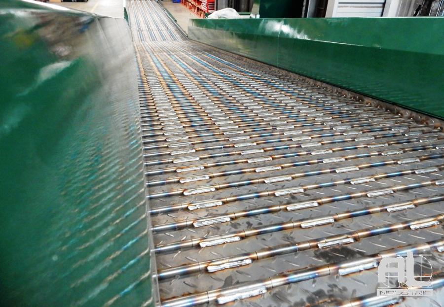 Convoyeur pièces acier - Convoyeur découpe laser - Tôlerie