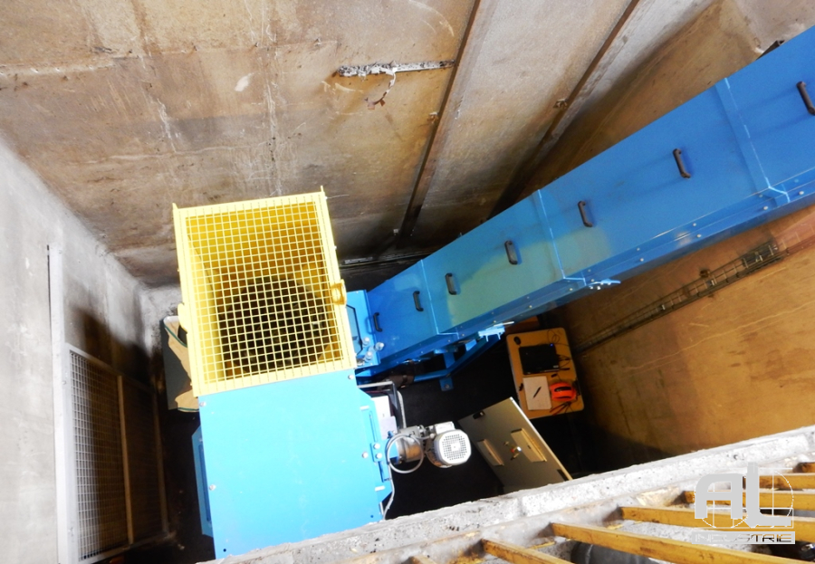Convoyeurs à tapis sculfort - Convoyeur tour en fosse - Mécanique