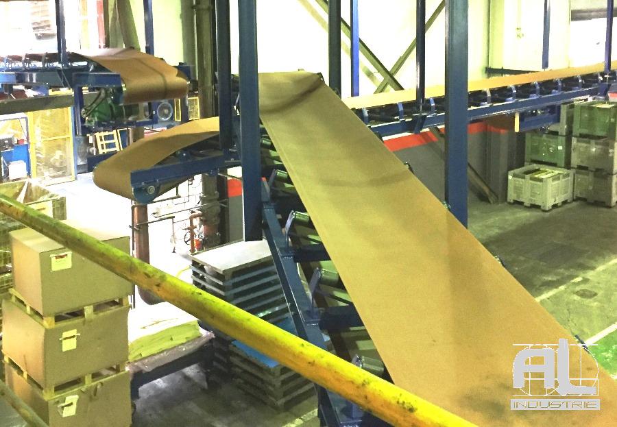 Convoyage bande en auge - Convoyeur bande en auge - Recyclage